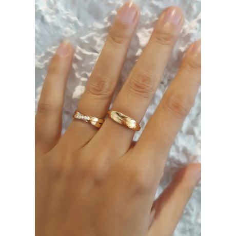 Alliance 2 anneaux or blanc Femme - Diamants   Marthe