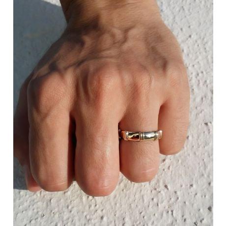 Alliance en or blanc 18 carats - Alliance diamants pour Homme | Bambou