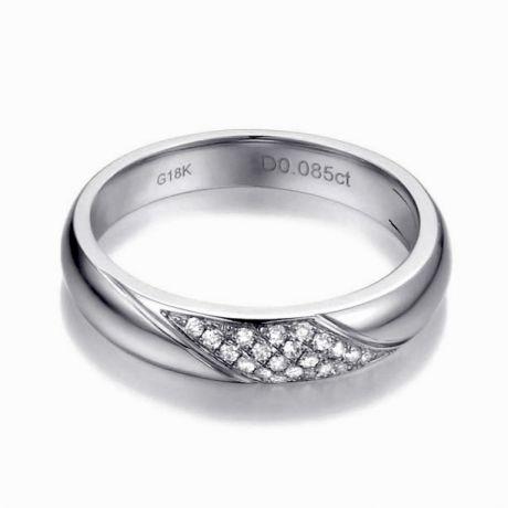 Fede Nuziale Donna Attorno a Me. Platino & Diamanti | Gemperles