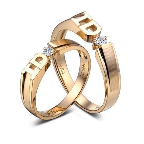 Alliance I DO - Alliance Homme Or jaune - Diamant