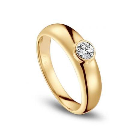 Alliance Homme. Or jaune. Diamant 0.30ct | Martens