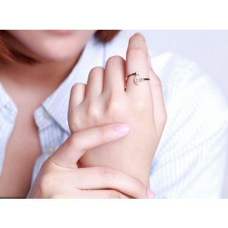 Anello Ancora per Donna -  Oro Rosa 18ct e Diamanti VS/G   Gemperles