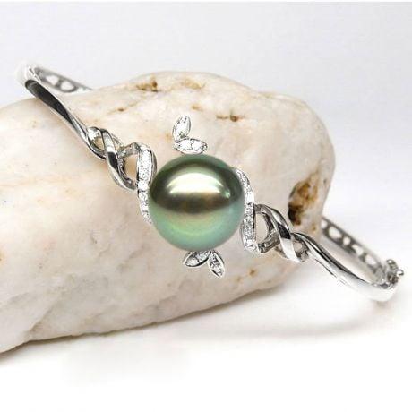 Bracelet perle de Tahiti noire - 10/11mm - GEMME