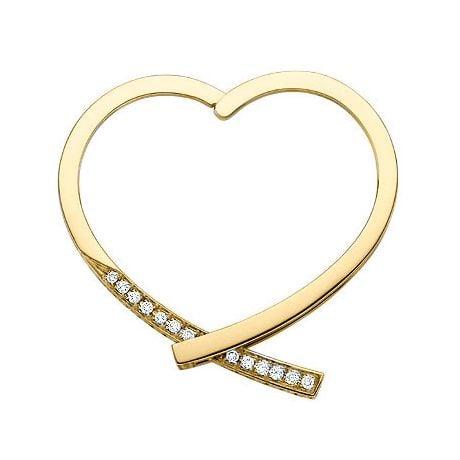 Anneau bague type pendentif - Or jaune 18cts - Diamants