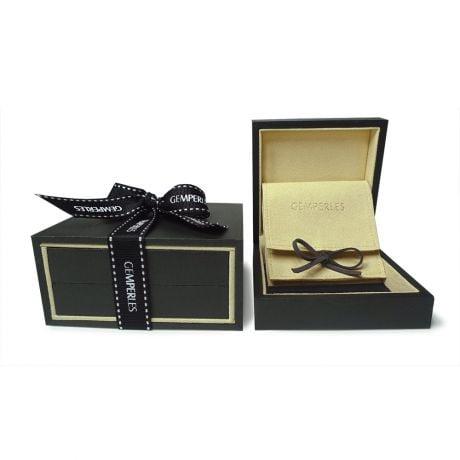 Orecchini farfalla - Pendenti oro giallo - Perle di Tahiti nere, bronzo - 9/10mm