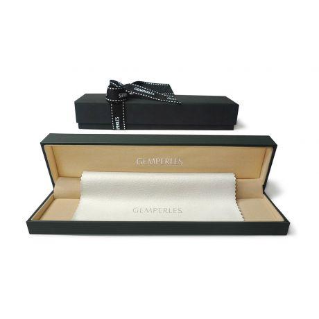 Braccialetto A Due Fili di Perle Akoya Fujikata - Giapponesi Bianche - 5.5/6mm, AAA