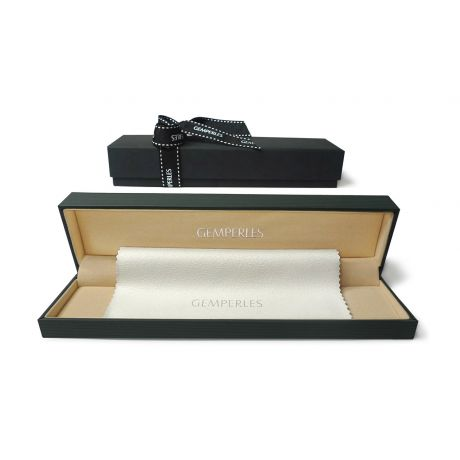 Braccialetto A Due Fili di Perle Akoya Emako - Giapponesi Bianche - 4.5/5mm, AAA
