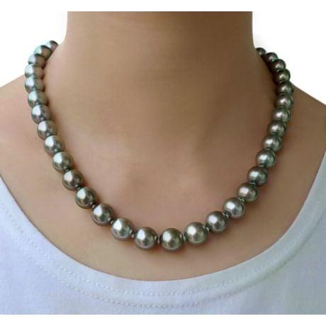 Collier en perles de culture bronzes de Tahiti