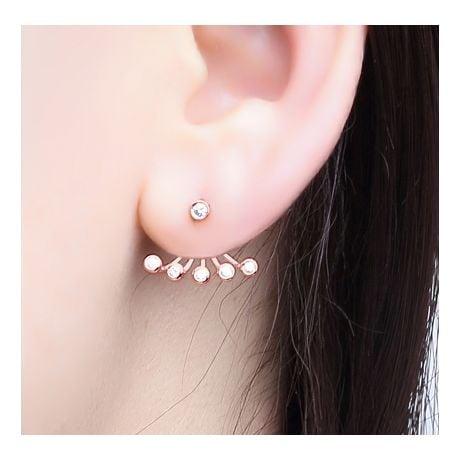 Orecchini Augusta - Pendenti da Donna in Oro Rosa & Diamanti