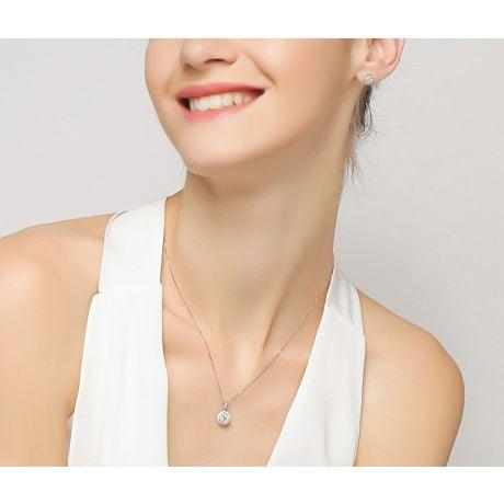 Orecchini Diamante Punto Luce. Donatella Oro Bianco