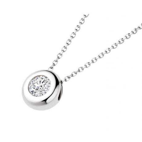Ciondolo Punto Luce Kili - Oro Bianco 18ct & Diamante | Gemperles