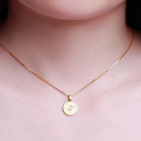 Pendentif Sagittarius Or jaune. Signe du sagittaire. Zodiaque
