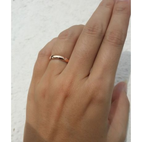 Fede Nuziale da Donna Madeleine - Fedina Oro Rosa, Diamante