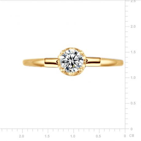 Anello Solitario Estasia - Oro Giallo 18kt e Diamanti - Trasformabile in ciondolo | Gemperles