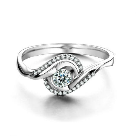 Bague Or Blanc Clarisse - Diamants 0.25 carat - Chateaubriand | Gemperles