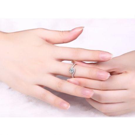 Solitaire Platine & Diamants - Je t'Appartiens | Gemperles