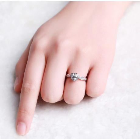 Bague Solitaire Your Best Friend - Or Blanc 18 Carats & Diamants | Gemperles