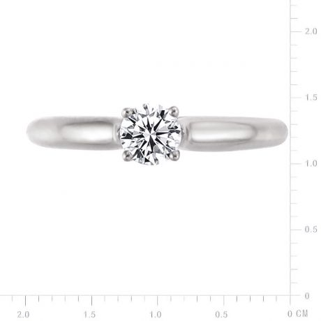 Solitaire Art de la Flore - En Or Blanc 18 Carats et Diamants | Gemperles