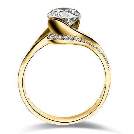 Bague Solitaire Or Jaune, Diamants 0.42ct - Baudelaire, A une Madone   Gemperles