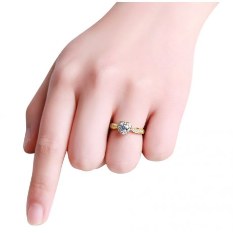 Bague Solitaire Your Best Friend - Or Jaune 18 Carats & Diamants | Gemperles