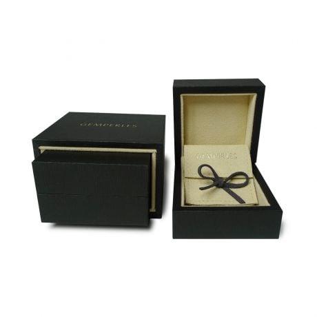 Bague homme moderne et virile - Or blanc brossé 18cts - Diamant