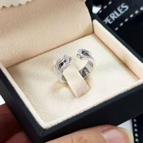 Alliances or blanc originales - Anneaux discontinus Couple - Diamants