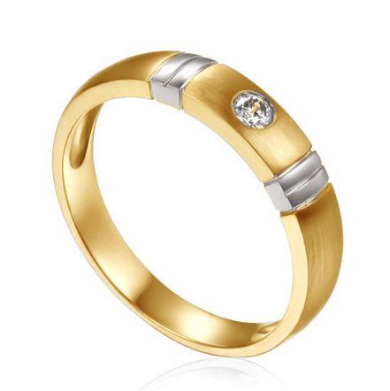 Alliance deux ors - Alliance diamant or jaune et blanc - Femme