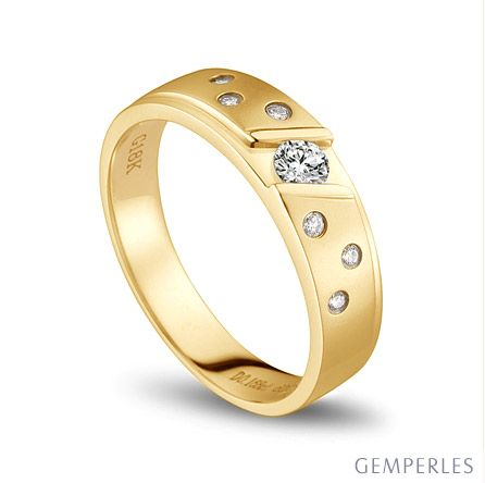Bague alliance constellation diamantée - En or jaune 18cts - Femme   Yasmina