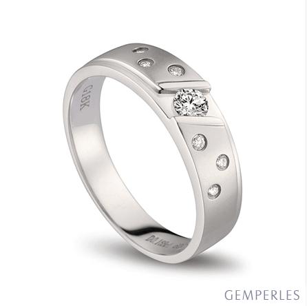 Bague alliance constellation diamantée - En or blanc 18cts - Femme | Talia