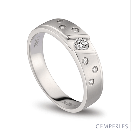 Bague alliance constellation diamantée - Platine - Femme   Talia