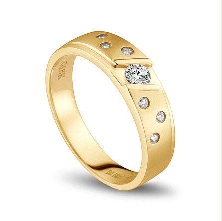 Bague alliance constellation diamantée - En or jaune 18cts - Homme | Stern