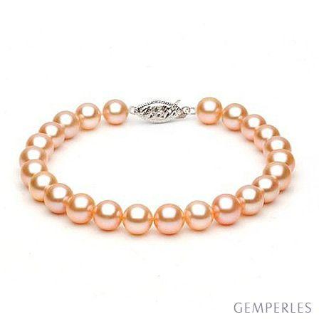 Bracelet perles de culture roses - Perle d'eau douce - 7.7.5mm - AAA