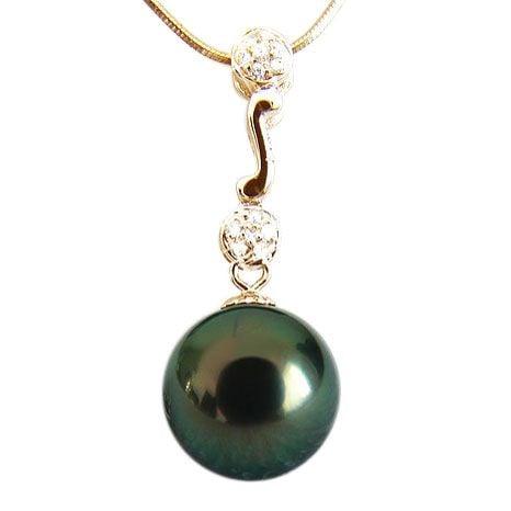 Pendentif Ikaria - Perle de Tahiti - Or jaune, diamants