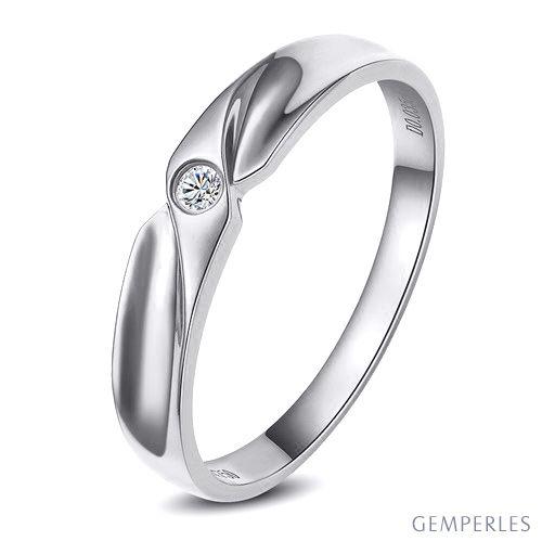 Alliance originale or blanc - Alliance Femme - Diamant