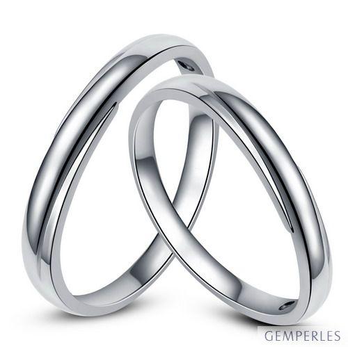 Alliances bijoux mariage - Alliances duo - Or blanc 18cts - Diamants