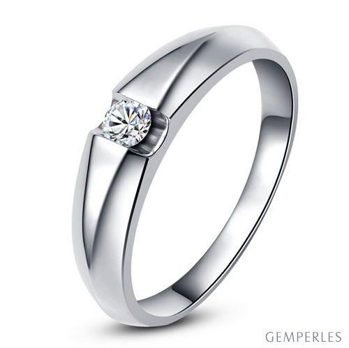 Alliance solitaire platine - Bague alliance diamant pour Femme   Destiny