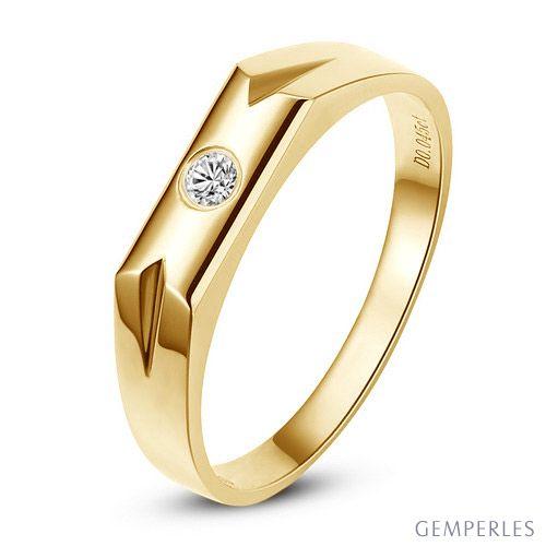 Alliance Femme. Or jaune. Diamant 0.032ct