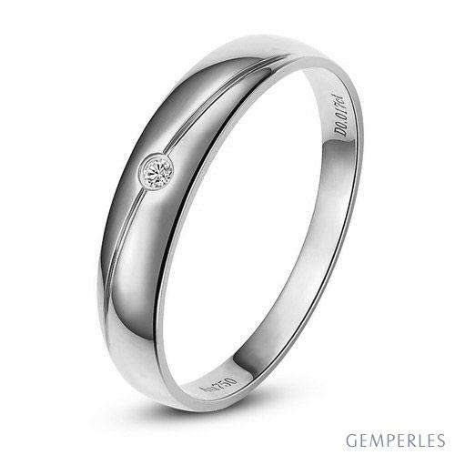 Alliance Femme. Platine. Diamant 0.015ct | Coralis