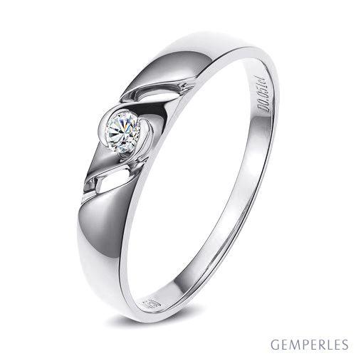 Bijoutier alliance de fiançaille - Alliance Femme diamant - Platine