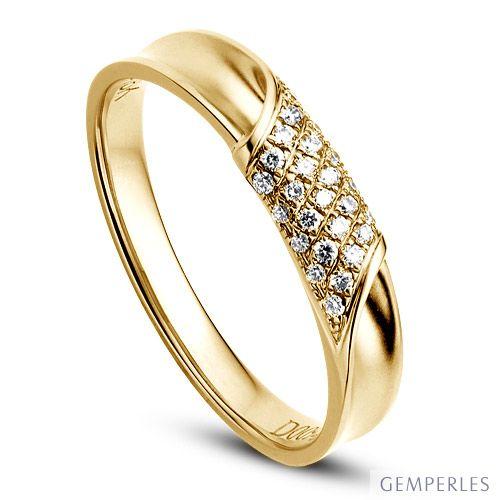 Alliance Femme. Or jaune. Diamants 0.105ct | Lucile