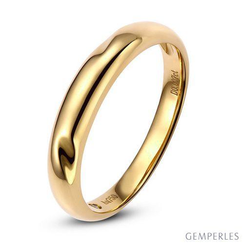 Alliance en or ronde - Alliance Femme Or jaune - Diamant