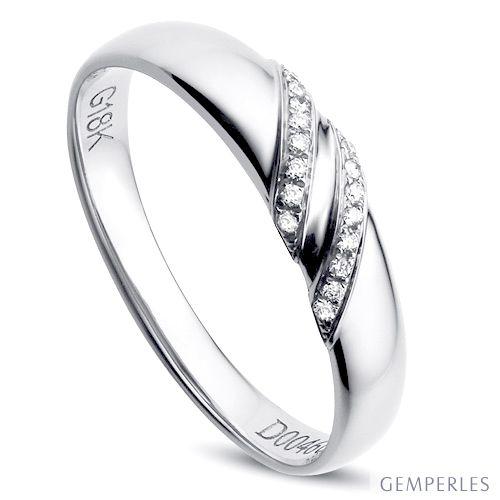 Alliance de Mariage Femme Inès - Platine & Diamants | Gemperles