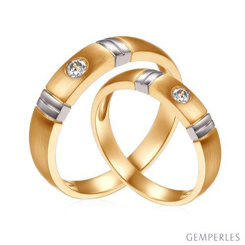 Alliances Couple. Diamants 0.130ct. 2 Ors   Garbo & Anderson