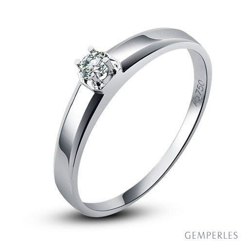 Alliance mariage originale - Alliance Homme - Or blanc - Diamant - 2