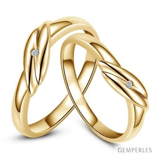 Bijoux alliances mariage - Alliances couple - Or jaune - Diamant