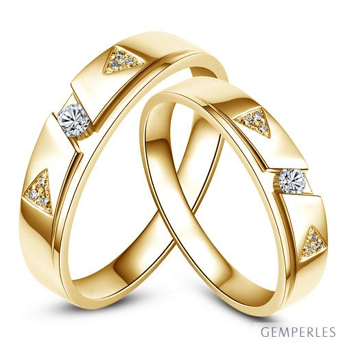 Alliances diamants - Or jaune - Alliances Duo