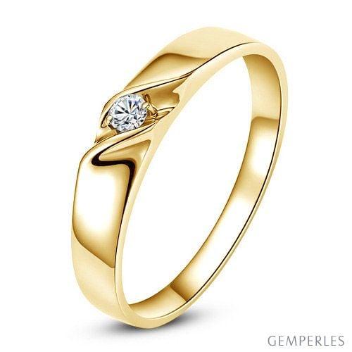 Alliance mariage en or Alliance Femme Or jaune 18 carats Diamant