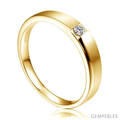 Alliance de fiançaille 2020 - Alliance pour Femme - Or jaune, diamant