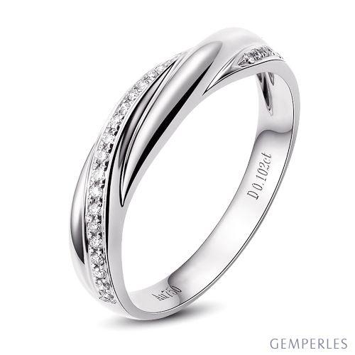 Alliance anneau de prestige. Union symbolique. Diamants, platine   Héra