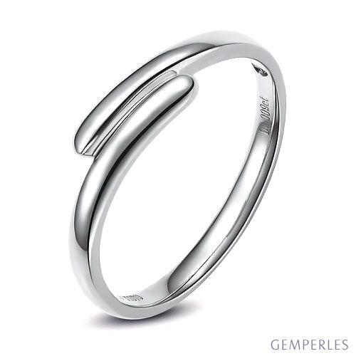 Alliance de mariage Femme. Or blanc. Diamant | Angèle